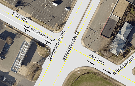 Fall-Hill-Ave-lane-change