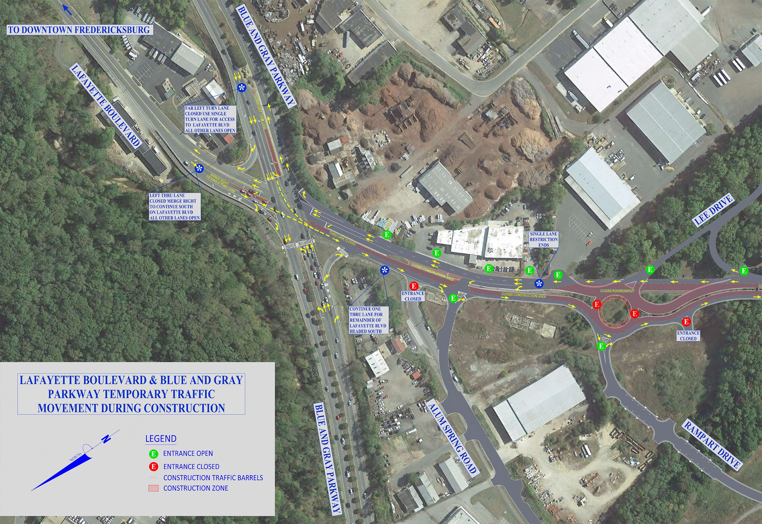 LAFAYETTE BLVD  BLUE GRAY CONSTRUCTION TRAFFIC MAP-Feb21